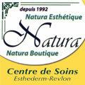 Logo de l'institut de beaute Natura au centre de Lunel