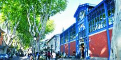 Lunel es ses halles en centre-ville (® mairie de lunel)