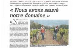 Domaine du Petit Chaumont Aigues Mortes présente le parcours de leur conversion Bio réussie (® la vigne juin 16)