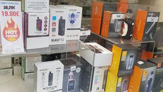 Aromanîmes annonce des promos sur les cigarettes électroniques en centre-ville.