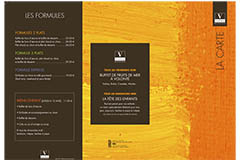 Brasserie Vatel Nîmes affiche sa carte Restaurant
